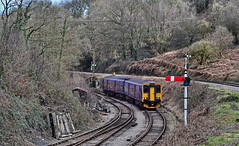 The Forest Sprinter. (curly42) Tags: 150244 class150 1502 sprinter dmu unit fgw first dfr norchard deanforestrailway signal forestofdean transport travel excursion railtour