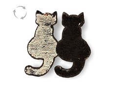Wechsel Pailletten Applikation, CATS black (patchmonkeys) Tags: patch glamour pailletten glam edel chic style no gros rücken brust applikation glamourös glizzy glitzern glitzerdinge strahlen disko fashion reflektion bling aufbügler edle edles aufnäher xl first rule rules katze patches klassisch stylisch flipflop katzen wechsel kippeffekt flip flop farbwechsel wendepailletten zauberpailletten wechselpailletten kätzchen
