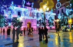 Navidad en Granada (Manuel Reyes) Tags: paisajeurbano streetvieu granada ayuntamiento navidad españa manuelreyes art