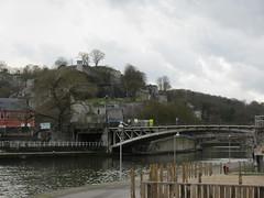 Sambre River bridges and Citadelle, Namur, Belgium (Paul McClure DC) Tags: belgium belgique wallonia wallonie ardennes feb2018 namur namen meuse maas sambre castle scenery architecture historic