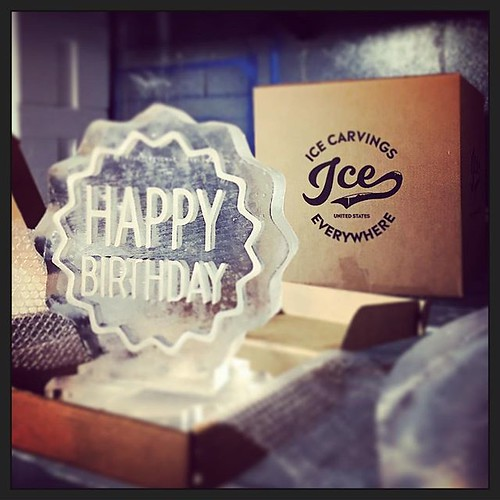 Headed to a #birthday party in California with @icecarvingseverywhere Send a special gift to your loved ones this #holiday season! Icecarvingseverywhere.com #fullspectrumice #thinkoutsidetheblocks #brrriliant #icecarvingseverywhere #airmail - Full Spectru