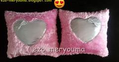 خطوات خياطة وسائد للديكور بقماش الكانيش تحفة موديل جديد diy sew pillow pink (ezo-handmade) Tags: اشغال يدوية الطرز و الخياطة خياطة وسائد pillow