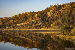 Mirror Pond (Patrick Dirden) Tags: sunrise dawn reflection mirror water lake rowlandlake bingenwa klickitatcounty columbiarivergorge columbiarivergorgenationalscenicarea washington pacificnorthwest northwest