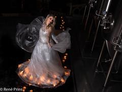 lighted dress (reneprins) Tags: light dress plastic plasticdress model modelshoot fashion fashionphotography brewery blondgirl nikonphotography nikon d800