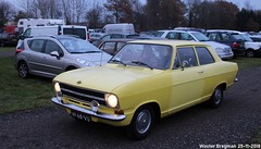Opel Kadett 1973 (XBXG) Tags: 6168vu opel kadett 1973 opelkadett yellow jaune gm general motors eeldeclassics 2018 flowerdome burgemeester jg legroweg eelde tynaarlo drenthe nederland holland netherlands paysbas vintage old german classic car auto automobile voiture ancienne allemande germany deutsch duits deutschland vehicle outdoor