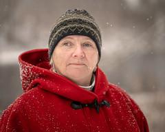 Alex 12/100 (Dan Fleury Photos) Tags: outdoor naturallight snow winter red border canada ontario humanfamily photoproject project napanee park justmet portrait stranger alex