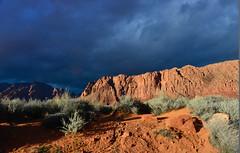 Dramatic Sky (Karen McQuilkin) Tags: dramaticsky red rocks southernutah eveninglight sage