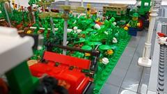 Waldstück (Woodland) 16 (-Nightfall-) Tags: lego moc wald waldstück woodland harvester fendt vario 500 f231 gt forest forestrymulcher forestblade polterschild mulchfräse