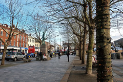 Salisbury Market Square (Jainbow) Tags: salisbury market trees christmas shops jainbow statue henryfawcett