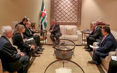 جلالة الملك عبدالله الثاني يلتقي وزير الخارجية الفرنسي جان إيف لودريان والوفد المرافق (Royal Hashemite Court) Tags: kingabdullahii jordan france french minister
