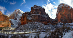 Zion: The Organ with Cable Mountain (left) and Angles Landing (right) (swissuki) Tags: us ut winter zion