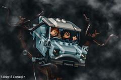 Harry Potter et la chambre des secrets (L'Usine à Souvenirs) Tags: lego photo brick briques film movie harry potter whomping willow saule cogneur chambre des secrets chamber brickpic picture toy ron weasley car voiture