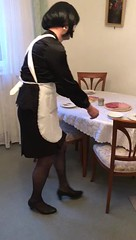Busy Maid (Marie-Christine.TV) Tags: french maid mariechristine lady dame tgirl tgurl feminine transvestite satin blouse skirt heels stockings strümpfe rock bluse hausmädchen dienstmädchen dienstmagd frenchmaid apron schürze sissymaid
