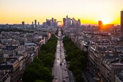 La Grande Arche (jannekoivunen) Tags: paris france champs elysee sunset nikon nikkor la grande arche