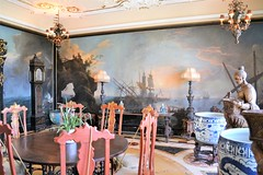 Upstairs dining room decor in the main house 0244 (Tangled Bank) Tags: in main house vizcaya museum gardens miami old classic history historica vintage mansion historical dade county florida upstairs dining room decor 0244