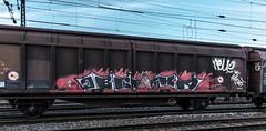 74_2019_01_18_Gelsenkirchen_Schalker_Verein_6185_100_DB_mit_H_Wagen ➡️ Bad_Hersfeld (ruhrpott.sprinter) Tags: ruhrpott sprinter deutschland germany allmangne nrw ruhrgebiet gelsenkirchen lokomotive locomotives eisenbahn railroad rail zug train reisezug passenger güter cargo freight fret schalkerverein schalker abrn atlu db erb rbh rpool sbbc vl 0077 0275 0422 0426 0429 0650 0826 1232 1273 3294 4482 6101 6145 6146 6185 6189 6193 9110 re rb sbahn mond habitat hunde logo natur outdoor graffiti