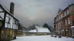 High Street, Lacock, (Hotfish) Tags: pub redlion snow