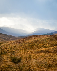 Rain Shower on Rannoch Moor (Dom W Photography) Tags: scotland rannochmoor landscape rain