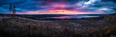 Daybreak On Glen Lake (owenweberlive) Tags: michigan sunrise sunset landscape water lake dune sand sky grass summer fall autumn spring pure national park river glen daybreak arbor mi pink skyporn panoramic panorama