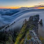 Belchenflue fog wave at dawn thumbnail