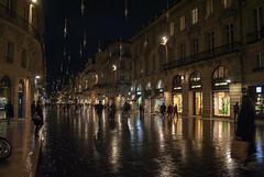Bordeaux, France (Tiphaine Rolland) Tags: bordeaux france gironde autumn automne 2018 nikond3000 nikon d3000 night nuit light lumière rain pluie eau water reflection reflet reflect street rue