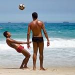 Footvolley at Arpoador beach thumbnail