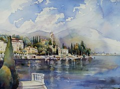 Moltrasio Lake Como Italy By Jim Smither, Watercolor (katalaynet) Tags: follow happy me fun photooftheday beautiful love friends