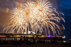 Fireworks (peterreading) Tags: fireworks netherlands scheveningen den haag hague beach strand pier tourism tourist sand sea water north display pretty beautiful beauty evening dusk night europe holland nederland european family event outing entertainment