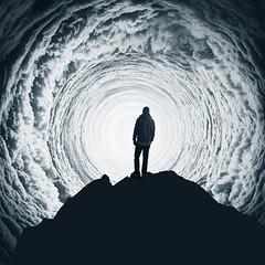 white vortex (Dyrk.Wyst) Tags: clouds spiral surreal nightmare silhouette mountainpeak composite mood backlight vortex photomanipulation agentur trevillion trevillionvorschlag accepted