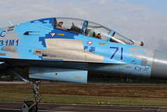 Sukhoi Su-27 UB 71 Ukranian Air Force - close-up while taxiing -Kleine-Brogel Spotter 7 septembre 20182018-09-07 10-34-30_0539 mod et signée (vincent.lempereur) Tags: fighter russianfighter chasseur su27 avion plane