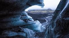 Glacier cave (Ralph Rozema) Tags: myrdalsjökull icecave glacier cave volcanic landscape iceland