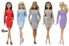 """""""ELENPRIV Fashion Academy"""" line (elenpriv) Tags: elenprivfashionacademy barbie doll fashion fashions elenpriv elena peredreeva handmade clothes dollclothes minidress"""