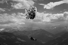 Der Weg ist das Ziel (basti k) Tags: alpen alps mountains mountain sky paragliding sw bw monochrom sony a6000 sel55210