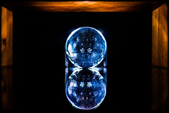 Stars in the orb. (CWhatPhotos) Tags: cwhatphotos blue dof depth field photographs photograph pics pictures pic picture image images foto fotos photography that have which with contain mk digital camera lens glass orb crystal ball color colors colour colours shadow shadows cast macro close up