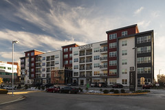 Encore at Forest Park (Notley Hawkins) Tags: httpwwwnotleyhawkinscom notleyhawkinsphotography notley notleyhawkins 10thavenue architecture design 2018 missouri sky exterior facade november city urban apartments apartmentbuilding humphreyspartnersarchitects stlouismissouri stlouis clouds forestpark encore encoreatforestpark