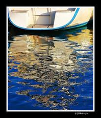 white boat (harrypwt) Tags: harrypwt borders framed paintinglike 40d 18200 finland helsinki reflections waters sea boat