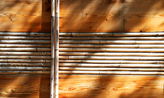 Japanese Fence (studioferullo) Tags: abstract architecture art beauty bright colorful colourful colors colours contrast dark design detail edge geometric light lines minimalism perspective pattern pretty scene shadow study sunlight sunshine texture tone world fence wood japanese bamboo garden albuquerque newmexico fencefriday