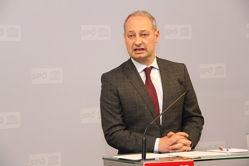Pressekonferenz mit SPÖ-EU-Spitzenkandidat Andreas Schieder, 14. Dezember 2018