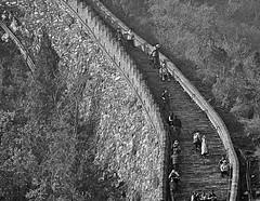 greatwall (Robert Borden) Tags: compression bw monochrome blackandwhite monochromephotography blackandwhitephotography blancoynegro canon canonphoto canonrebel canont5 asia china thegreatwall greatwallofchina beijing people architecture texture