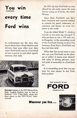1955 World Wide Ford Companies You Win Every Time Ford Wins Page 1 Aussie Original Magazine Advertisement (Darren Marlow) Tags: 1 5 9 19 55 1955 w world wide f ford c car cool colectible collectors classic a automobile v vehicle e english england g german european europe u us usa united s states american america aussie australian australia 50s