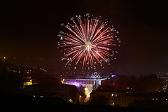 Fireworks (iron_doji) Tags: fireworks georgia kutaisi amazing canon550d 1855mm beautiful nice canon city newyear beautifulfireworks amazingfireworks photography photo фейерверк