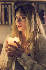 Irina (Florent Joannès) Tags: shooting shoot photo photography portrait photographie modeling mode makeup paris casual candle irina 2019 50mm cocooning cosy sweet golden light