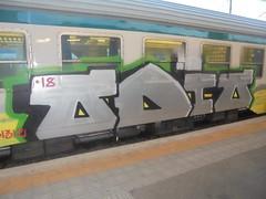 756 (en-ri) Tags: odio 18 2018 1312 acap acab train torino graffiti writing nero argento verde giallo