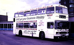 Slide 125-55 (Steve Guess) Tags: wakefield west yorkshire england gb uk bus adbus advert aoa leyland olympian riding cwr507y