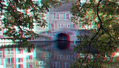 Delfshaven Rotterdam 3D (wim hoppenbrouwers) Tags: delfshaven rotterdam 3d anaglyph stereo redcyan