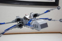 (Improved) Standard Resistance X-wing: Combat Mode Front-Right Tilted View Pic 2 (Evrant) Tags: lego star wars custom x wing moc starfighter spaceship starship ship t70 t 70 resistance evrant