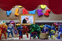 Excelsior!  The curtain lowers. (MayorPaprika) Tags: canoneosrebelt6i macro efs60mmf28macrousm mini figs figure paprihaven pvc miniature smallscale figurine diorama toy story scene custom bricks plastic vinyl theater bijouplanks stanlee marvel comics