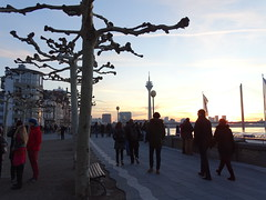 The other direction (drager meurtant) Tags: dragermeurtant düsseldorf hafen haven harbour winter tree streetwalker sundown evening river rhine
