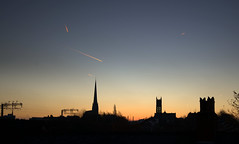Morning Preston skies (Tony Worrall) Tags: update place location uk england visit area attraction open stream tour country item greatbritain britain english british gb capture buy stock sell sale outside outdoors caught photo shoot shot picture captured ilobsterit instragram preston lancs lancashire city welovethenorth nw northwest north scenic serene spire church dawn morning rooftops outline