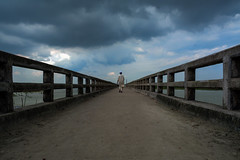 Alone Boy (Em0n Reza) Tags: human person blue sky walk boys brige outdoor bangladesh cap